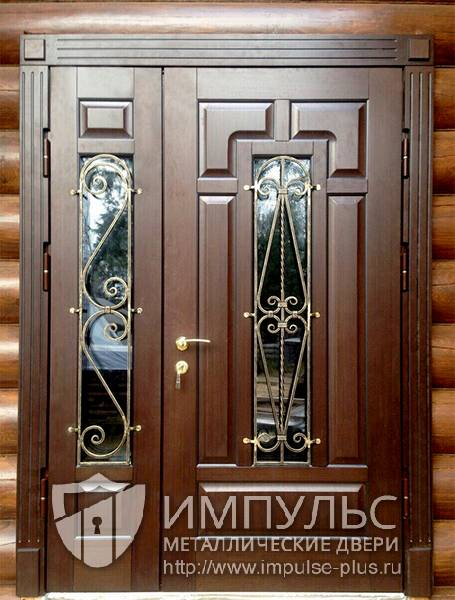 двухстворчатые входные двери для офиса