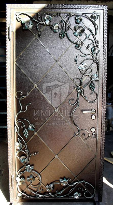 Фото дверей металлических с узорами