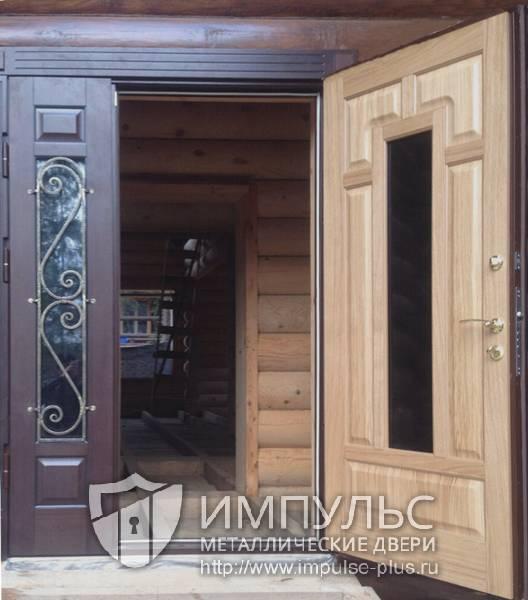 двустворчатая металлическая дверь 7000 купить